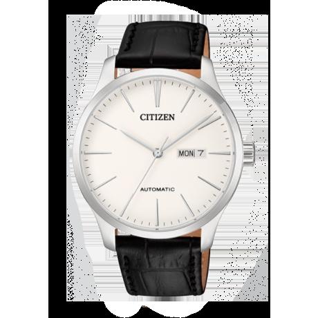 西铁城(CITIZEN)手表 自动机械皮表带商务男表NH8350-08A