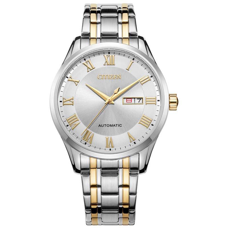 西铁城(CITIZEN)手表 自动机械间金色复古男款NH8366-83AB